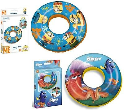 Licensed Kids Swimming Rings Inflatable Swim Aid Baby Toddler Girls Boys 10m+