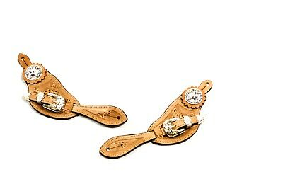 Western Silver Royal Shaped Spur Straps