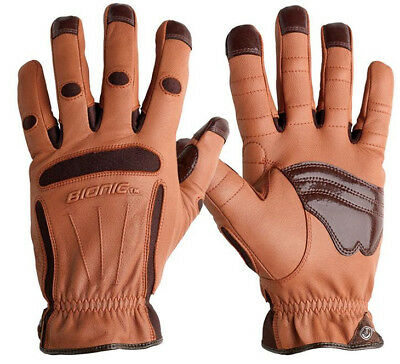 Bionic Tough Pro Garden/Landscape Gloves. Premium Quality & Durability. Leather