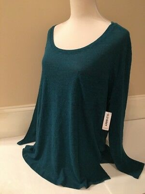 Old Navy Long Sleeve Scoop Neck Tee For Women in Size S, M, L - NEW with Tags!