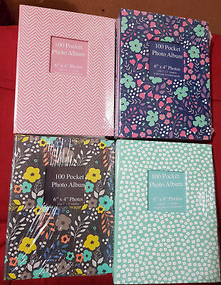 "5""x7"" Or 4""x6"" Designer Photo Album with 100 Pockets Slip-In Photo Album"