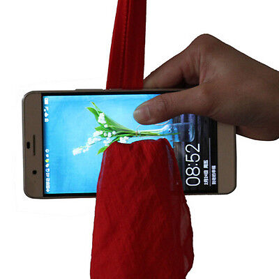 Magic Red Silk Thru Phone by Close-Up Street Magic Trick Show Prop Tool  LJ