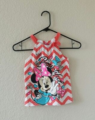 Disney Minnie Mouse graphic tank top sleeveless shirt top girl's size 6