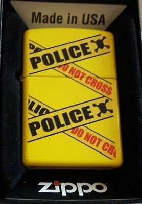 Caution Police Tape Do Not Enter Zippo WINDPROOF Lighter