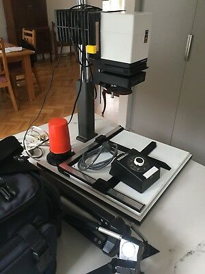 Durst C35 enlarger, Hauck ATU timer, LowePro camera bag