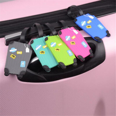 Suitcase Cartoon Luggage Tags ID Tag Address Holder Identifier Label 5 Colors