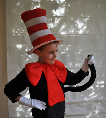 Cat in the hat costume - unlicenced book week 5 pce costume kit FREE SHIPPING