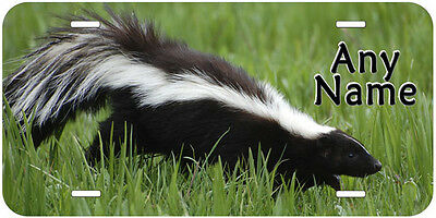 Skunk Personalized Any Name Novelty Car License Plate