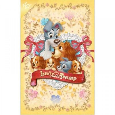 New Disney Store Japan Postcard Lady and the Tramp Family 25th Anniversary F/S