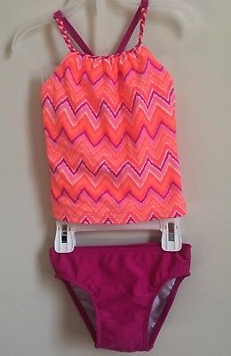 Toddler Girls 2-piece Tankini Bathing Suit ~ Multi-color ~ Size 2T