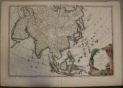 Asian Continent 1763 Janvier & Lattré Antique Original Copper Engraved Map