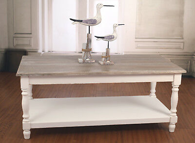Coffee Table Hamptons French Provincial Timber Top Shelf Table Furniture 120x60