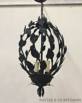 FRENCH VINTAGE IRON CAGE CHANDELIER HOME DECOR - K021c