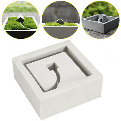 3D Handmade Silicone Flower Pots Mold Cement Molds Silica Gel Concrete Moulds