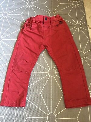 Boys Size 2 - 3 Years Cherry Red Jeans Pants Next UK Brand Clothing Winter