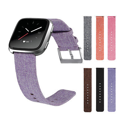 2018 Hot Fabric Woven Wrist Strap Buckle Watch Band For Fitbit Versa