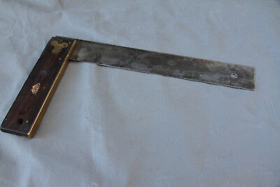 """Vintage """"Ahrems Goodline"""" 12in Rosewood Square. Nice old tool"""