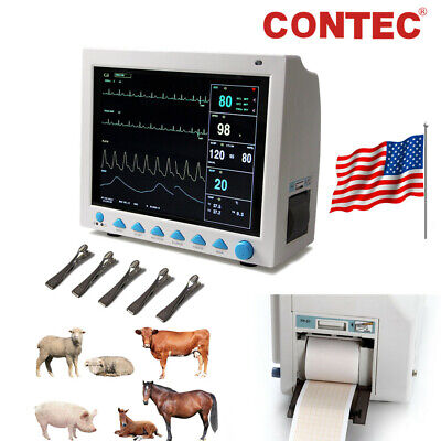 Veterinary ICU Patient Monitor 6 Parameter Vital Signs Monitor,Printer,USA FedEx