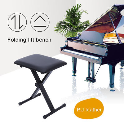 Folding Music Guitar Keyboard Drum Stool/Throne Piano Chair Padded Seat Foldable
