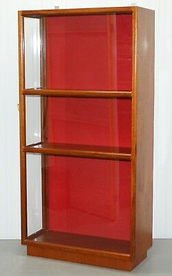 Vintage Mahogany Large Shop Display Cabinet Glazed Locked To The Side Taxidermy