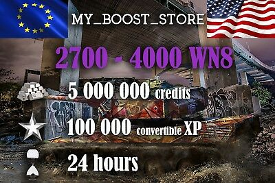 World Of Tanks (WOT) 5 MILL. 100.000XP UNICUM PLAY | 24 hours| NOT BONUS CODE