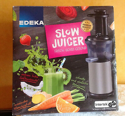 Slow Juicer EDEKA Intertek Entsafter mit Orginalverpackung