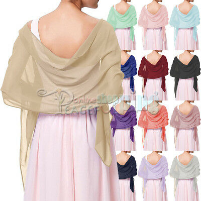 Chiffon Scarve Shawls Wraps stole For Weddings Bridal Bridesmaids & Evening