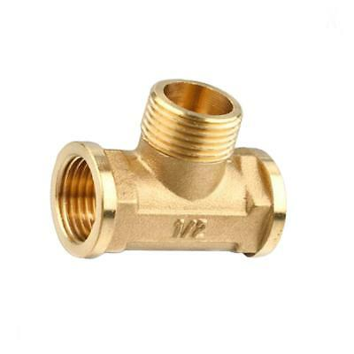 Anti-Burst Brass Tee Fitting Pipeline Connector Female Male 3 Way 1/2""