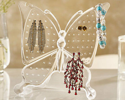 EARRING RACK jewellery HOLDER clear display stand BUTTERFLY UK seller 96 holes