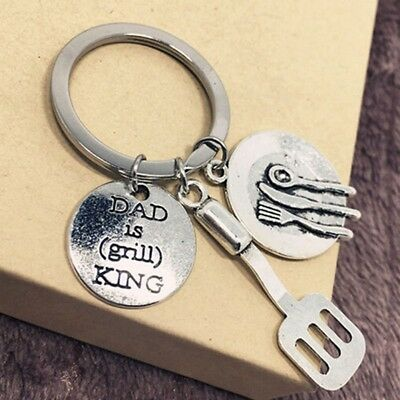 Dad is Grill King Cooking King Dad Key Buckle Best Gifts For Father's Day Chic