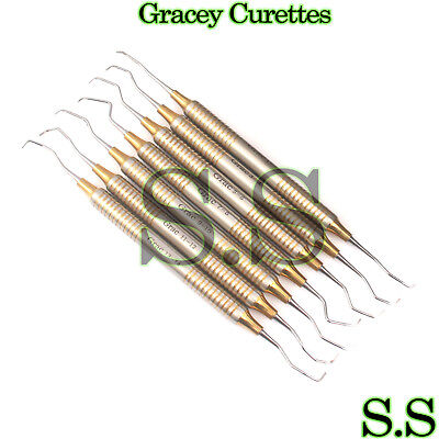 X7 Gracey Curettes Periodontal Root Cavity Tooth Calculus Removal Dental Curette