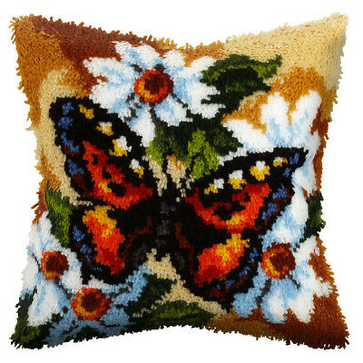 Butterfly  : Orchidea Latch Hook Cushion Kit  - ORC.4060