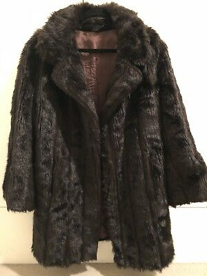 1970s 1960s Stunning and Luxurious Brown Vintage Fur Coat - Jacket - M