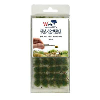 WWG Ancient Oakland 10mm Self Adhesive Static Grass Tufts x100 -Wargame Terrain