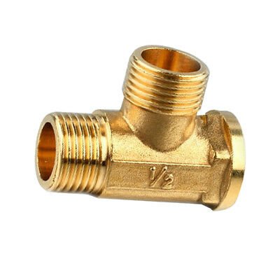 """Anti-Burst Brass Tee Fitting Pipeline Connector Male and Female 3 Way 1/2"""""""