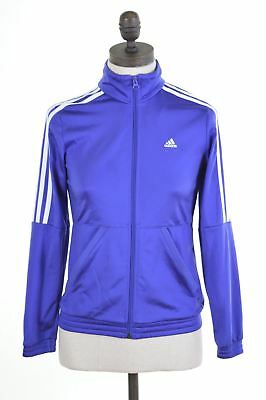 ADIDAS Girls Tracksuit Top Jacket 11-12 Years Purple Polyester Vintage