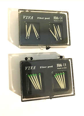 Dental Fiber Post Set 20 Pack 2 Sizes (1.0mm and 1.2mm) 2 boxes