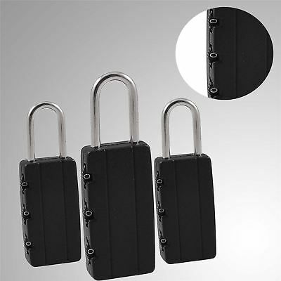 Combination Lock Padlock 3 Digit Code-Luggage Suitcase Travel Bags-Pack of 3