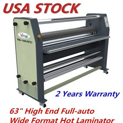 "63"" High End Full-auto Wide Format Hot Laminator AC110V 60Hz 2500W US Stock"
