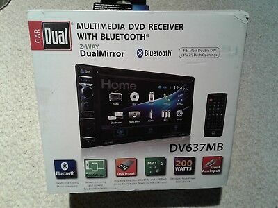Dual-DV637MB-Double-DIN-Bluetooth-In-Dash-DVD-Multimedia-Car-Stereo-Receiver