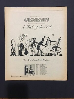 "Genesis 1976 Original 11X14"" LP Print Promo Ad For ""A Trick Of The Tail"""