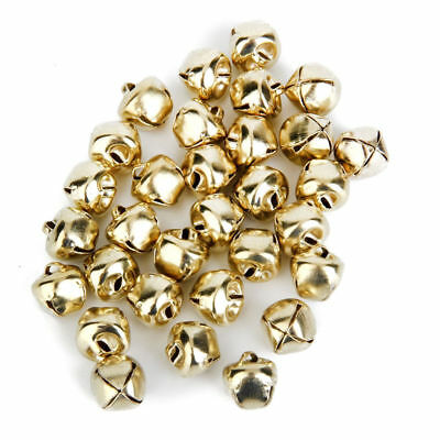 240 Pieces - 3/8 Inch 10mm Gold Small Craft Jingle Bells Charms Bulk 240 Pieces