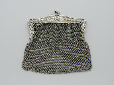 Solid Silver 58.6g Paul Ettlinger French Import Mesh Purse 1910 London