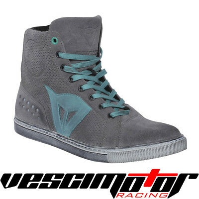 Scarpa Dainese Street Biker Air Lady Shoes Gray/Aquamarine