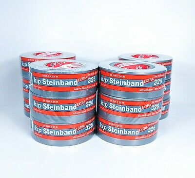 """12 Rolls Silver Duct Tape - Half Case 1.88"""" x 54 yd. 8 Mil Thick - FREE PRIORITY"""
