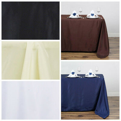 """50x120"""" Polyester Rectangular Rectangle Tablecloth for a Wedding - 6 colors"""