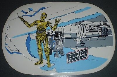 STAR WARS : Vintage : Empire Strikes Back Vinyl Place Mat - R2-D2 & C-3PO : 1980