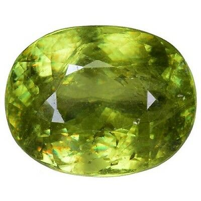 5.430CTS Glorious luster green natural sphene oval loose gemstones see video