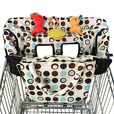 NEW Crocnfrog 2-in-1 Shopping Cart Cover | High Chair Cover for Baby | Medium