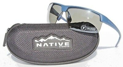 961d4b15801 NATIVE EYEWEAR Hardtop Ultra XP Sunglasses POLARIZED Steel Blue N3 Silver  NEW